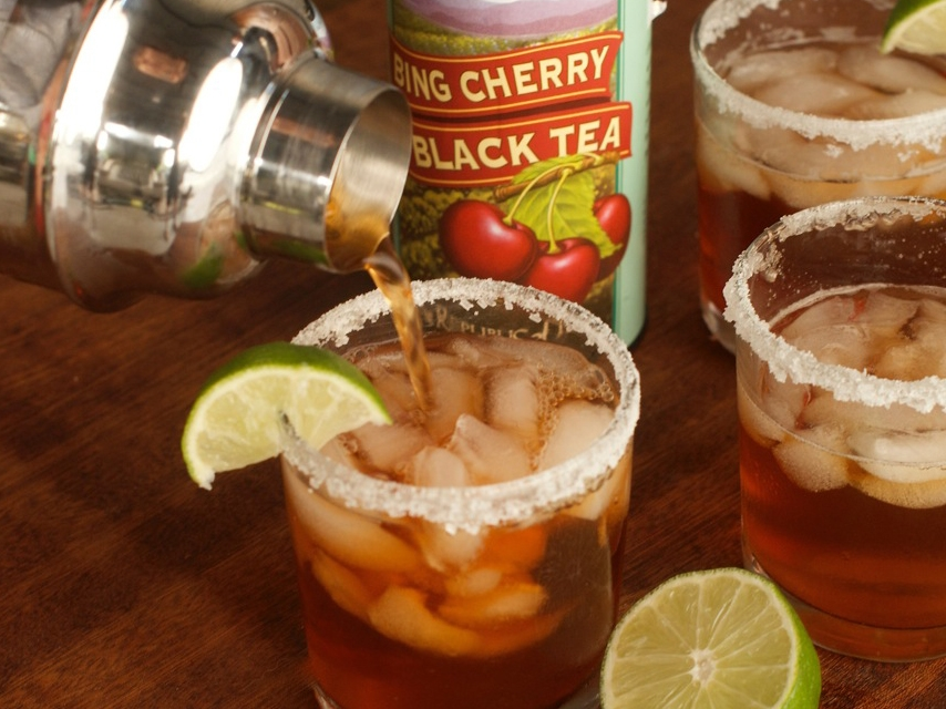 Bing Cherry Black Tea Cocktail