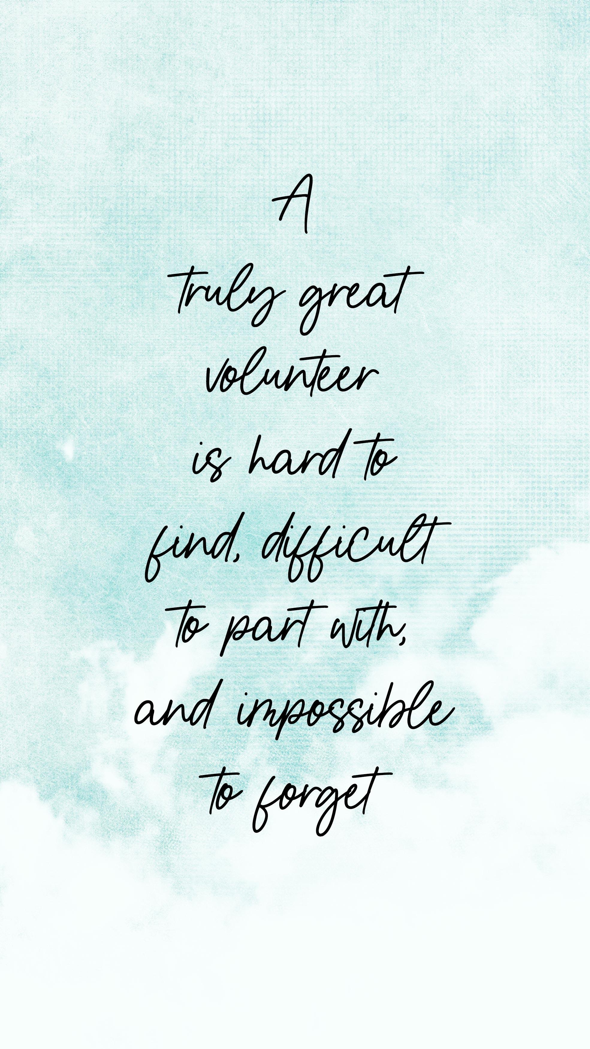 A Great Volunteer