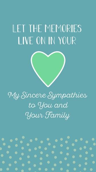 Sincere Sympathies
