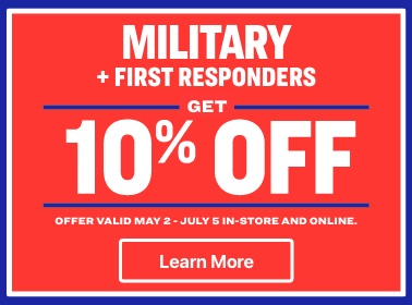 10% off for military and first responders
