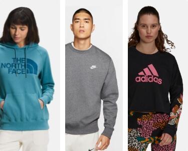 shop Hoodies + Sweatshirts