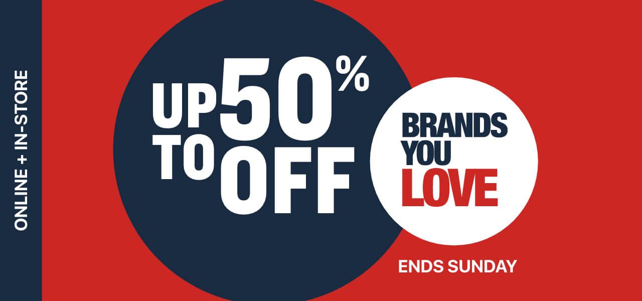 shop 50 % off