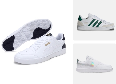white puma tennis shoes, shop now
