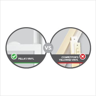 Pella windows vs the competitor's windows comparison