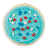 Buttercream Frosted Patriotic Cookie