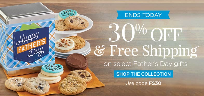 Ends Today - 30% + Free Shipping on Father's Day