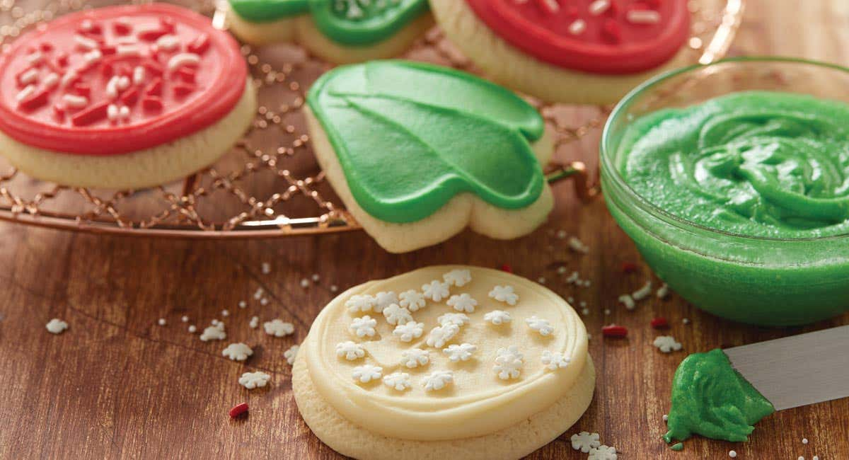 Buttercream Frosted Holiday Cut-Outs