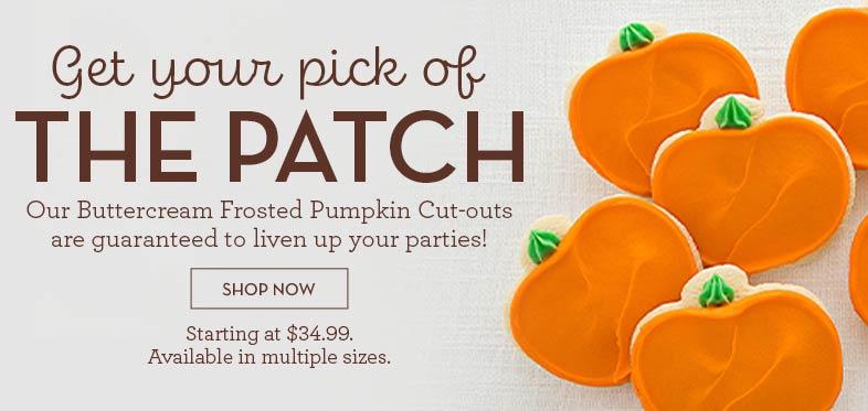 Buttercream Frosted Pumpkin Cut-Outs