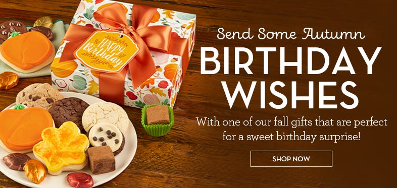 Fall Birthday Cookie Gifts