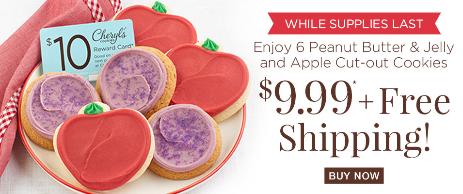 Enjoy 6 Peanut Butter & Jelly and Apple Cut-Out Cookies