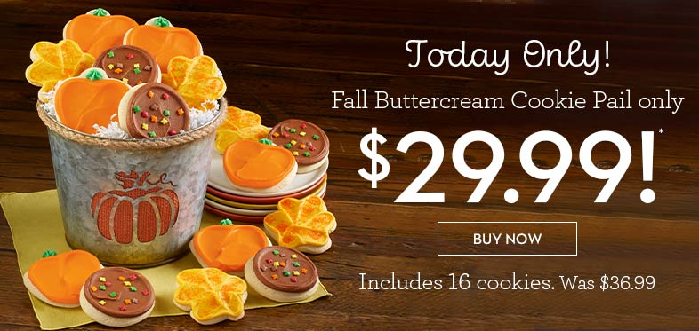 Today only! $29.99 Fall Buttercream Cookie Pail