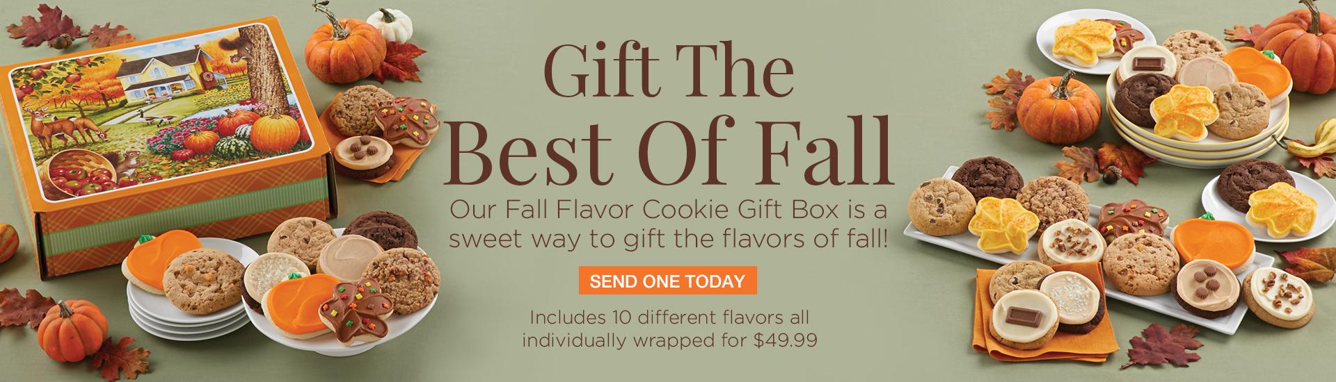 Fall Flavor Cookie Box