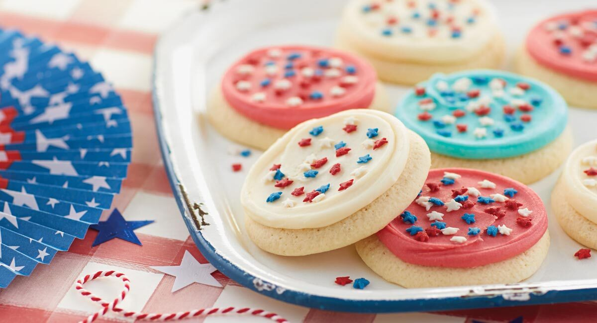 Buttercream Frosted Patriotic Cookies