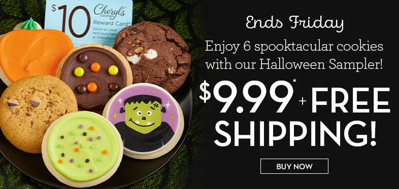 Halloween Cookie Sampler $9.99 and FREE Shipping