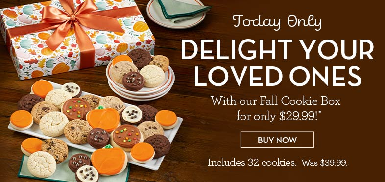 Today only! #289841 Fall Cookie Box only $29.99