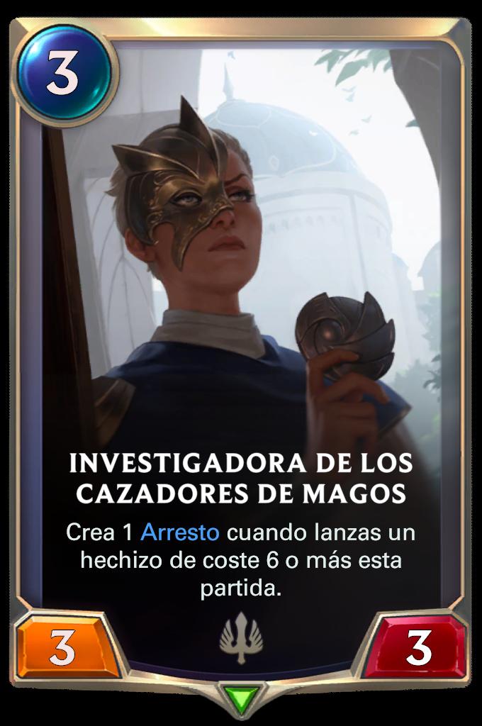 Investigadora de los cazadores de magos