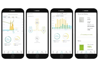 With the sonnen App, you can check the status of your sonnenBatterie, look back at your historical energy data, track your energy flow and analyse the efficiency of your system, all in real time.