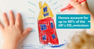 Homes Account for up to 40% of the Uk's CO2 emissions