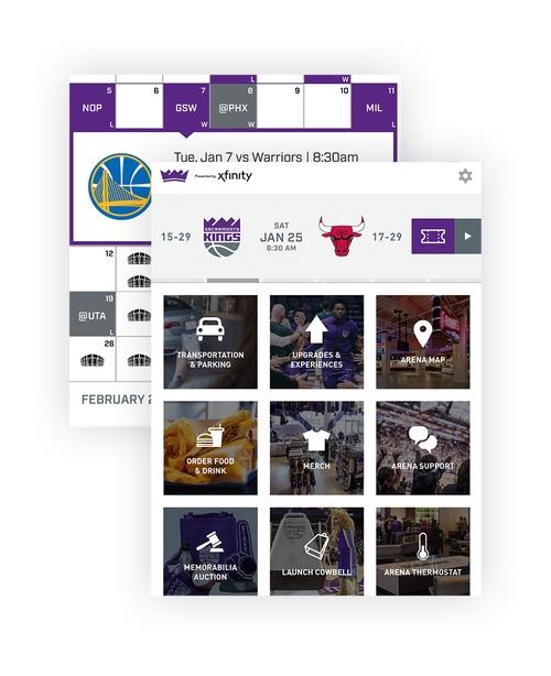 Image of Sacramento Kings + Golden1 Center app remote control