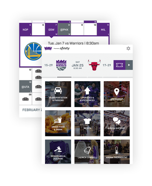 Image of Sacramento Kings + Golden1 Center app remote control