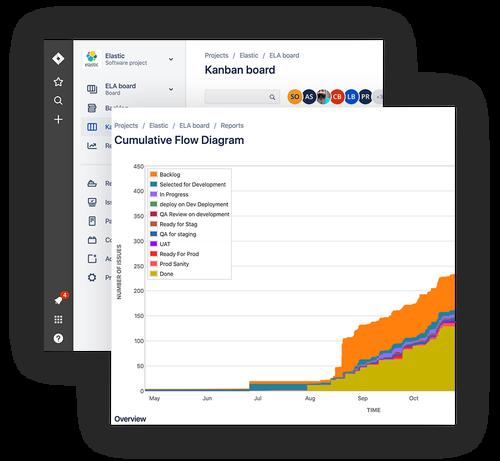 Composite Image of Elastic Project Management Portal Screens