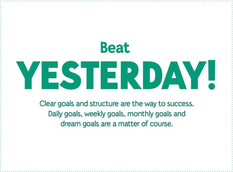 Beat Yesterday!