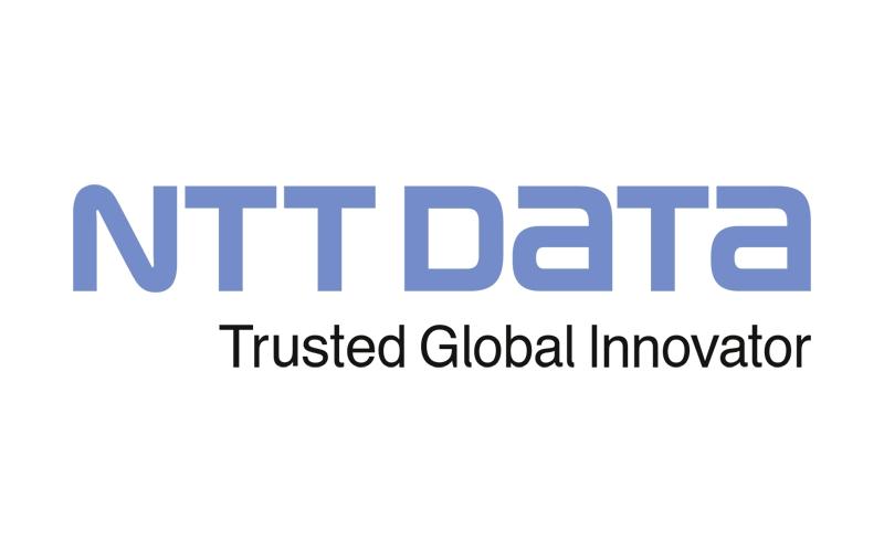 NTT DATA Logo und Referenz
