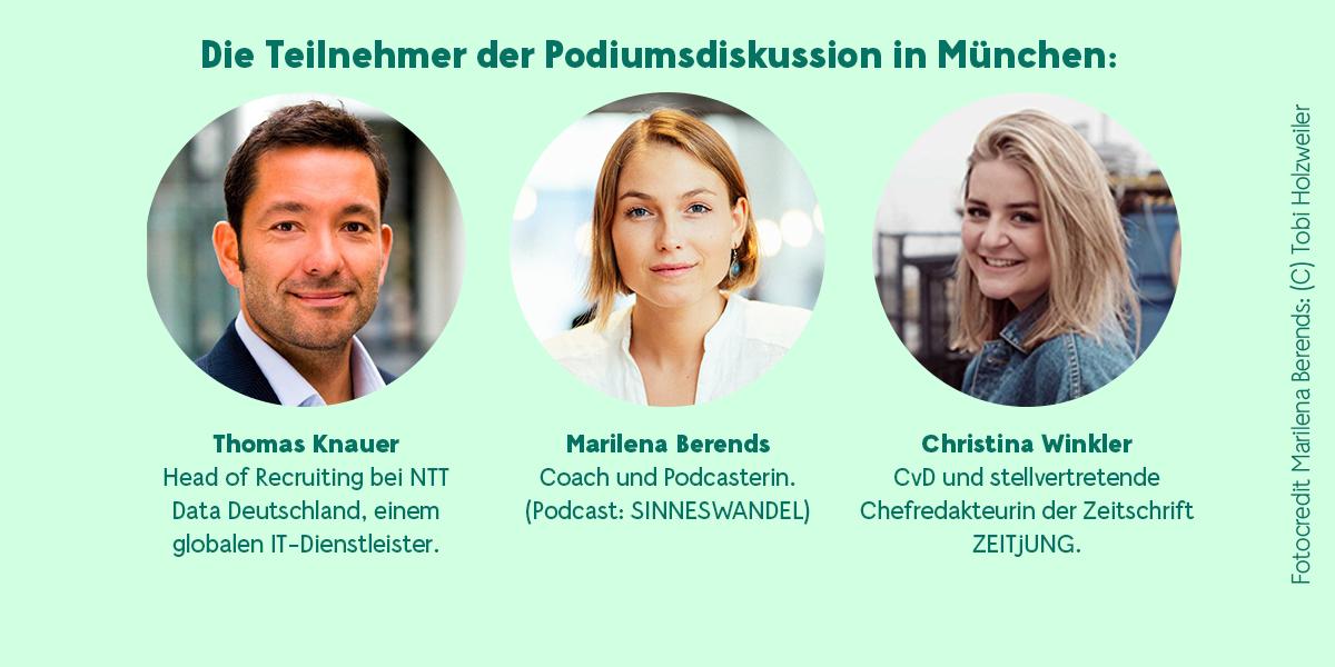 Teilnehmer Podiumsdiskussion München