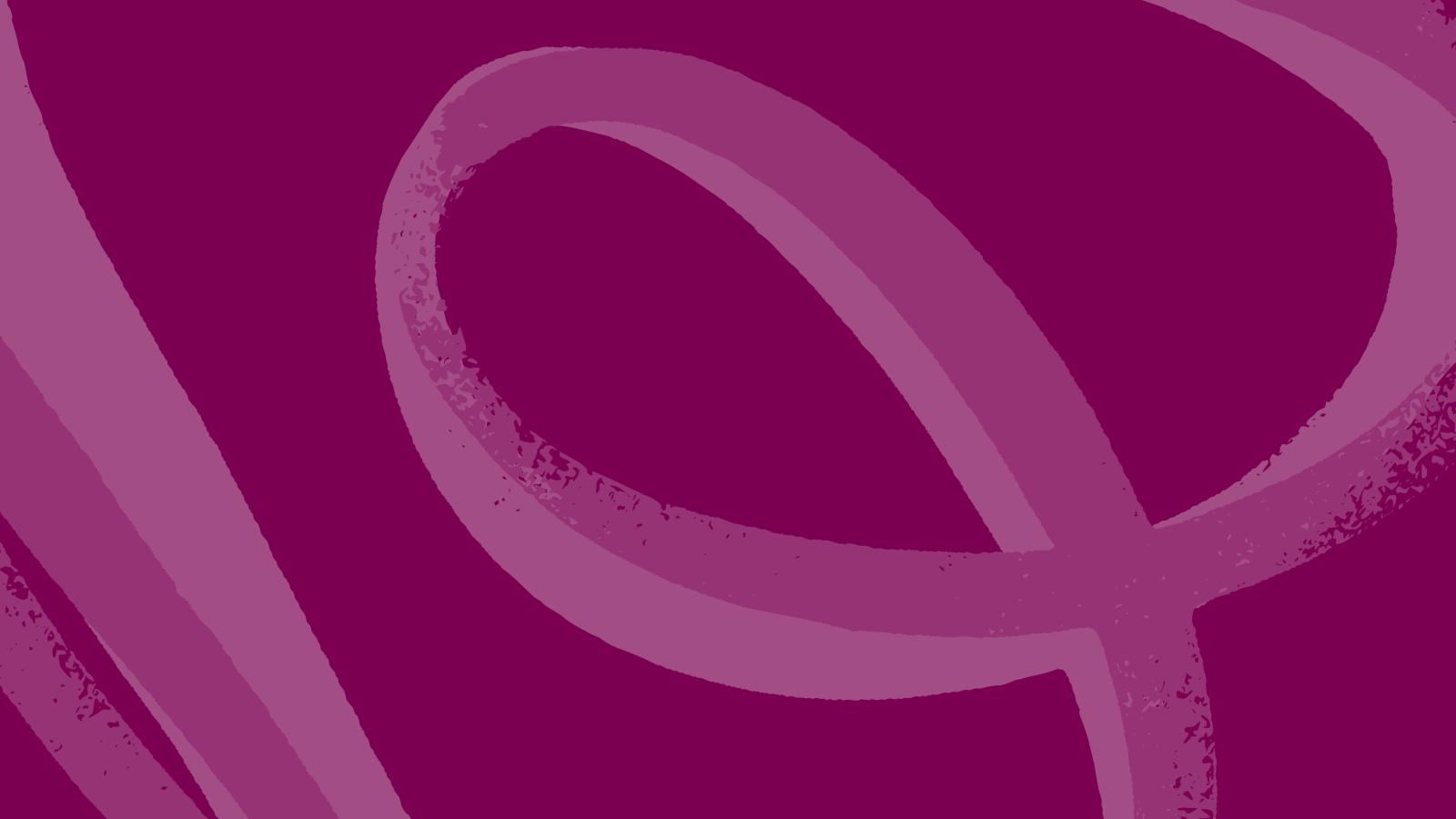 Light pink Airbnb logo on dark fuchsia background