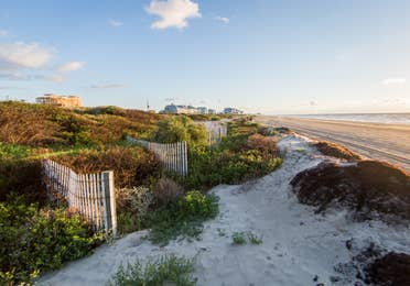 Beach access from Galveston Beach Resort