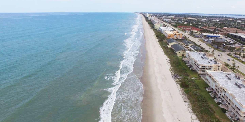 Cocoa Beach drone shot