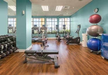 Fitness center at Sunset Cove Resort