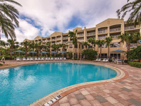 Outdoor Signature Collection pool at Cape Canaveral Beach Resort.