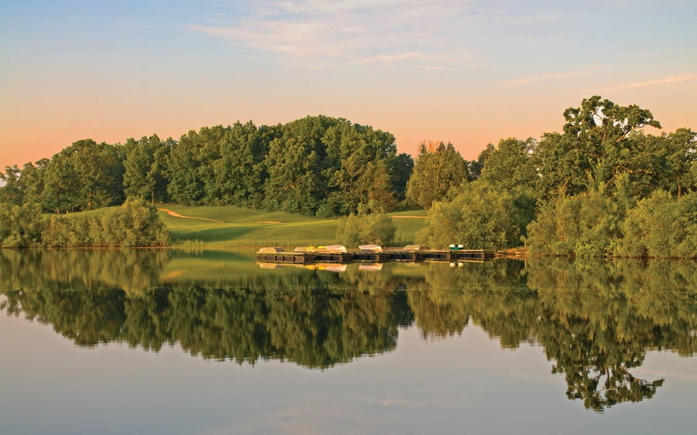 Golf course at Timber Creek Resort in De Soto, Missouri.
