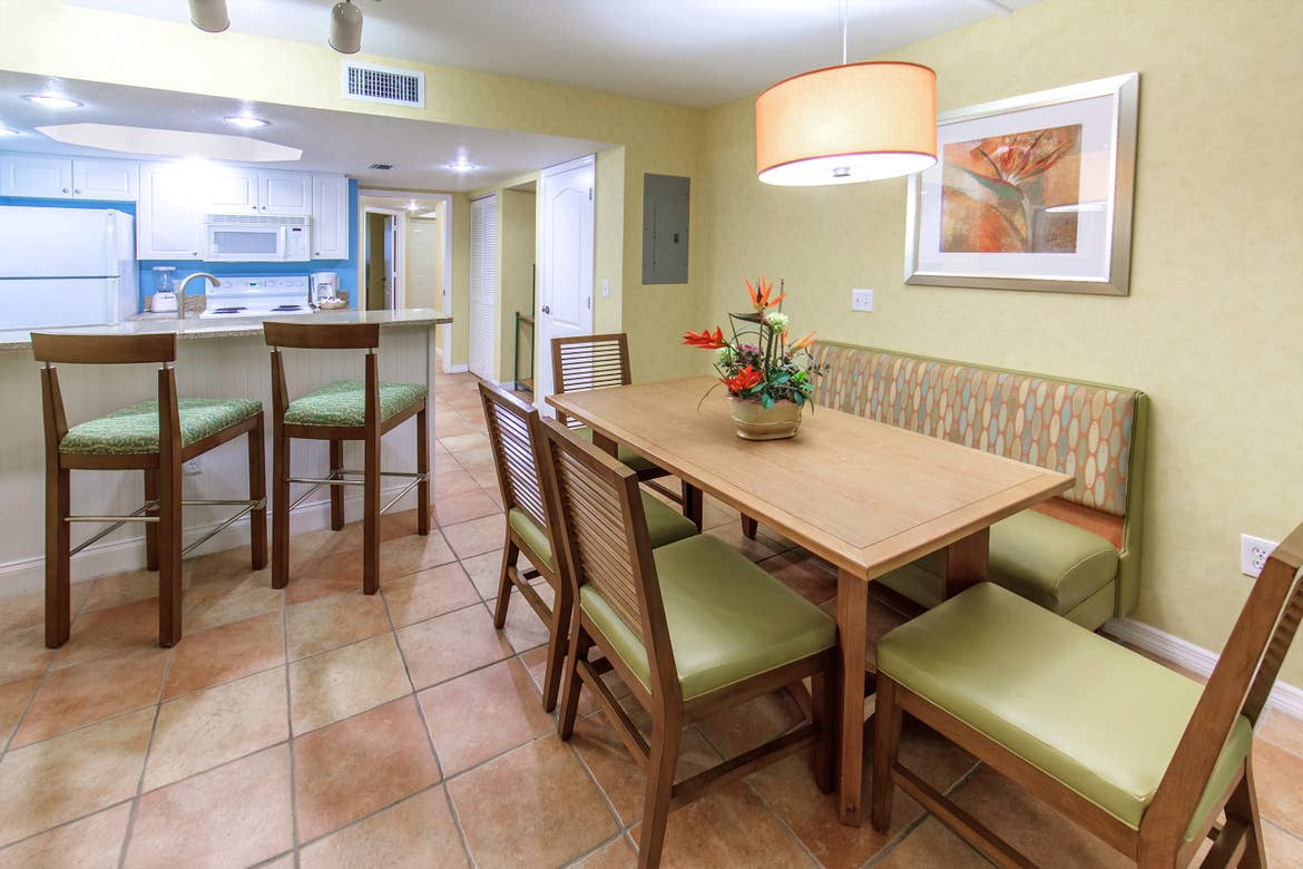 Cape Canaveral Beach Resort One-Bedroom suite kitchen.