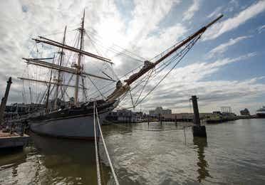 1877 Tall Ship Elissa near Galveston Beach Resort.