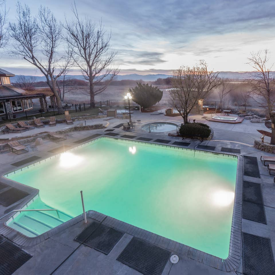 Hot Springs outdoor pool at David Walley's Resort in Genoa, Nevada