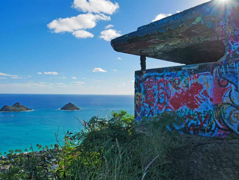 Graffiti at Lanikai Pillbox