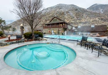 Hot springs tub at David Walley's Resort in Genoa, Nevada.