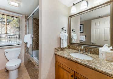 Bathroom in a Crest Pointe two-bedroom villa at Tahoe Ridge Resort