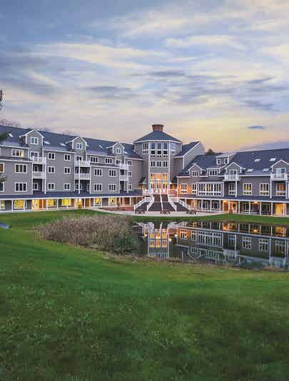 Exterior view of Mount Ascutney Resort in Brownsville, VT