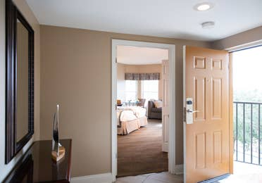 Entrance into bedroom in a three bedroom villa in West Village at Orange Lake Resort near Orlando, FL