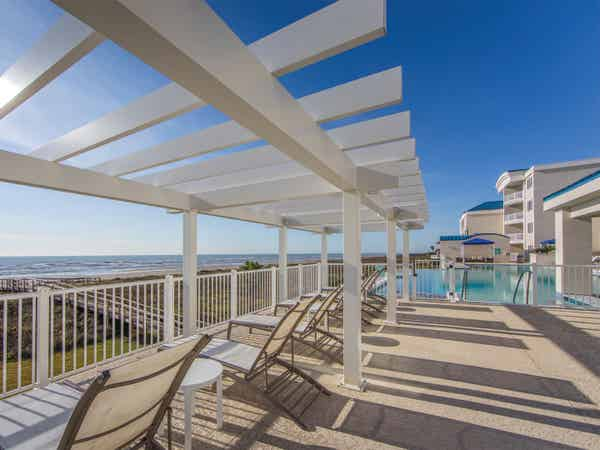 Signature Collection outdoor pool at Galveston Seaside Resort.