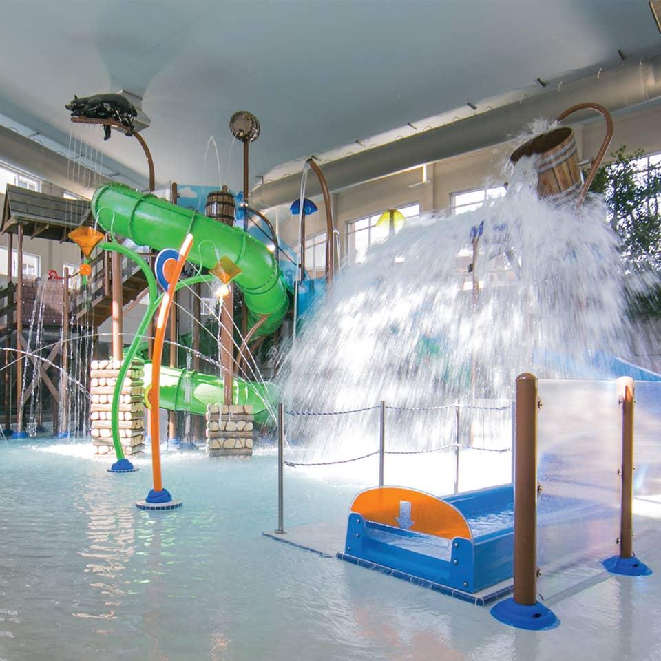 Inside Splash Hollow at Smoky Mountain Resort