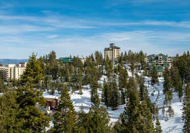 Aerial view of Tahoe Ridge Resort in Stateline, NV