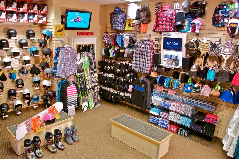 Interior shot of the Resort Sports Ski Shop and Marketplace at Tahoe Ridge Resort.