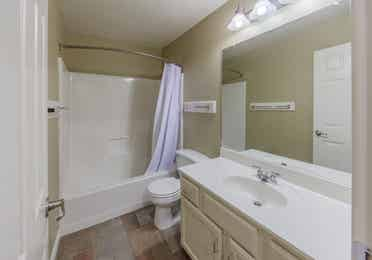 Bathroom in a two-bedroom villa at Villages Resort