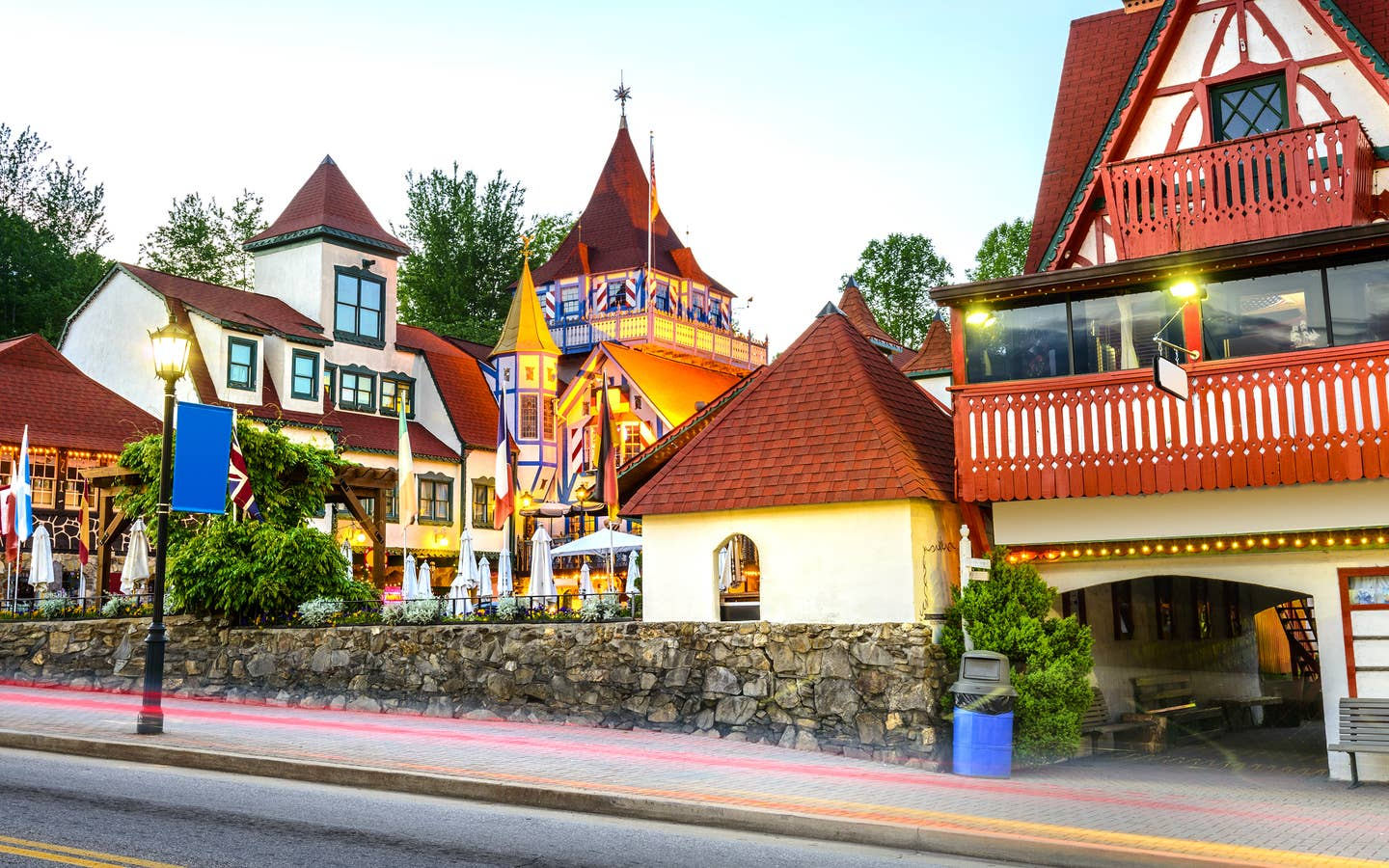 Bavarian-inspired architecture in Downtown Helen, Georgia.