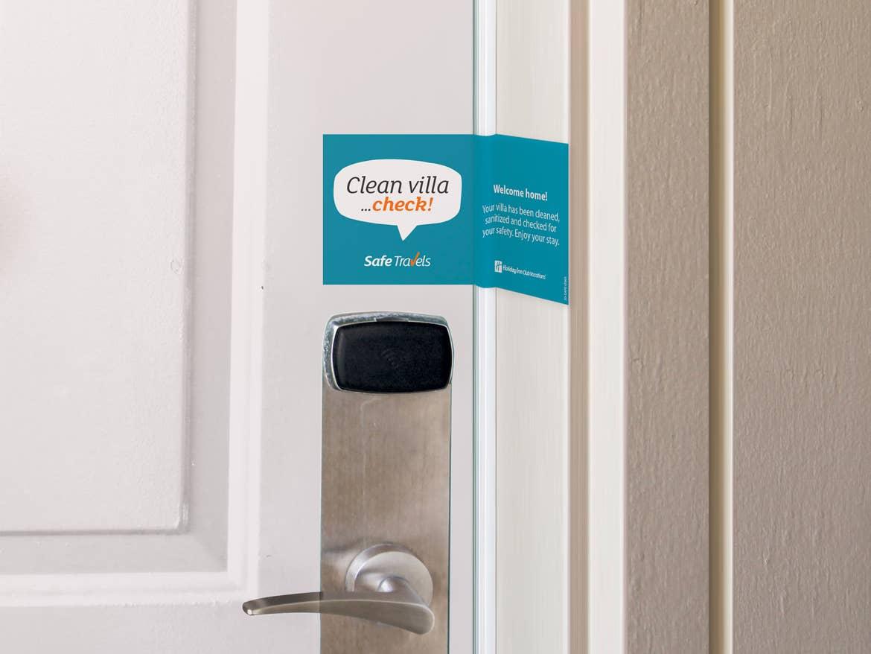 Extra cleaning doorseal on a hotel door