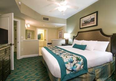 Bedroom in a villa at South Beach Resort